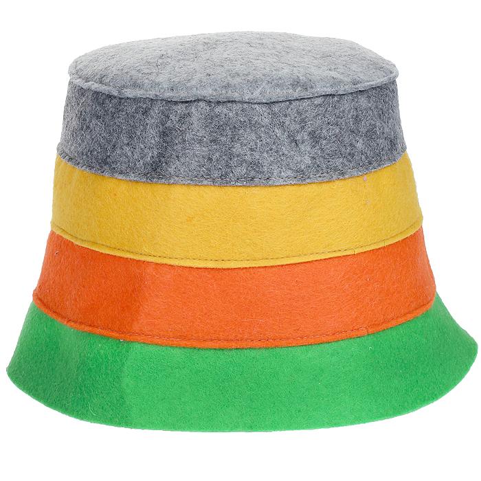 Шапка для бани и сауны Доктор баня В полоску, цвет: зеленый, оранжевый, желтый905254Шапка для бани и сауны Доктор баня В полоску, изготовленная из нетканого волокна, это оригинальный и незаменимый аксессуар для любителей попариться в русской бане и для тех, кто предпочитает сухой жар финской бани. Необычный дизайн изделия поможет сделать ваш отдых более приятным и разнообразным. При правильном уходе шапка прослужит долгое время - достаточно просушивать ее.Обхват головы: 60 см.