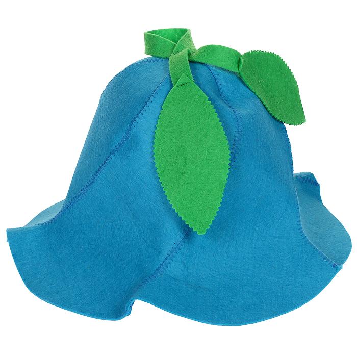 Шапка для бани и сауны Вьюнок, цвет: голубой шапки для бани метиз шапка для бани хозяин