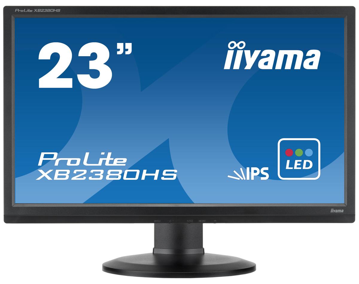 Iiyama ProLite XB2380HS-B1 23, Black мониторXB2380HS-B1Iiyama ProLite XB2380HS - это 23-дюймовый монитор с LED подсветкой и матрицей IPS, которая считается оптимальным решением для мониторов LCD. Это технология характеризуется отличной цветопередачей и хорошими углами обзора. Динамическая контрастность ACR 5 000 000:1, широкие углы обзора (на уровне 178°), быстрое время отклика (5 мс) обеспечивают отличную работу в разрешении Full HD 1920x1080. Монитор оснащен подставкой с возможностью регулировки высоты и с функцией PIVOT, а также тремя входами сигнала:аналоговым VGA и цифровыми DVI-D и HDMI.ЖК-панели IPS отличаются стабильной цветопередачей в широком диапазоне углов обзора, а также высоким уровнем контрастности, что позволяет рекомендовать их для использования в графическом дизайне и других областях применения, где требуется точное воспроизведение цветов. Обладая малым временем отклика, позволяющим сохранять плавность воспроизведения в играх и при просмотре фильмов, IPS является универсальной технологией, пригодной как для офисного, так и домашнего использования.Благодаря поддержке разрешения 1920х1080, монитор может отображать любые изображения. Full HD обеспечивает большую рабочую зону по сравнению с обычными мониторами, которые работают в разрешении 1280х1024. Использование светодиодов (LED) позволяет существенно снизить энергопотребление и выбросы газов СО2 в атмосферу - монитор становится экологически безвредным.Технология Advanced Contrast Ratio (продвинутая контрастность) автоматически регулирует контрастность и яркость, основываясь на характеристиках картинки. Чем выше контрастность, тем лучше будет смотреться картинка в темной комнате. Технология Overdrive позволяет избежать размытия изображения на экране при показе очень динамичных сцен.Настраиваемая по высоте подставка (HAS, Height Adjustable Stand) позволяет выбирать идеальное положение для экрана для максимального комфорта пользователя во время работы, что не только позитивно сказывается на здоровье, 