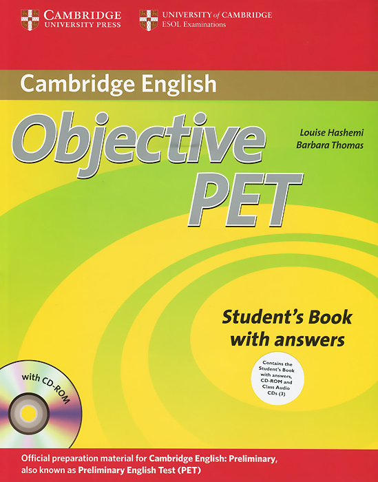 Objective PET: Student's Book with Answers (+ 4 CD-ROM) objective first 4 edition workbook without answers сd