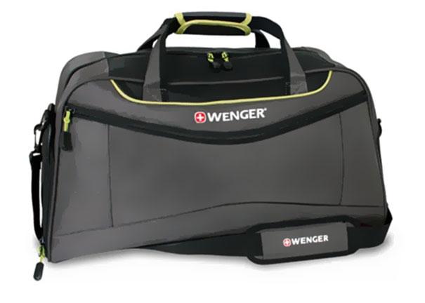 Сумка Wenger, цвет: серый, салатовый, объем 53 л