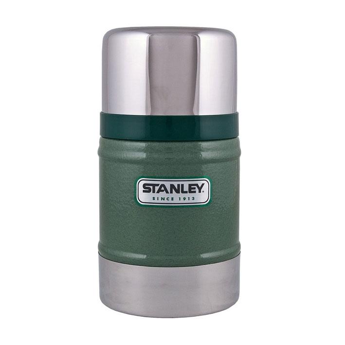 Термос Stanley Classic Vacuum Food, цвет: темно-зеленый, 0,5 л