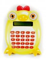 Калькулятор Цыпленок, цвет: желтый. 003577003577Калькулятор, выполненный в виде забавного цыпленка с вращающимися глазками, позволит вам без труда провести самые сложные вычисления за считанные секунды. Оригинальный дизайн привлечет внимание и украсит ваш рабочий стол.Такой калькулятор станет отличным подарком и незаменимым аксессуаром, он несомненно, удивит и порадует получателя. Характеристики:Материал: пластик. Размер калькулятора: 7,5 см х 9 см х 2 см. Артикул: 003577.