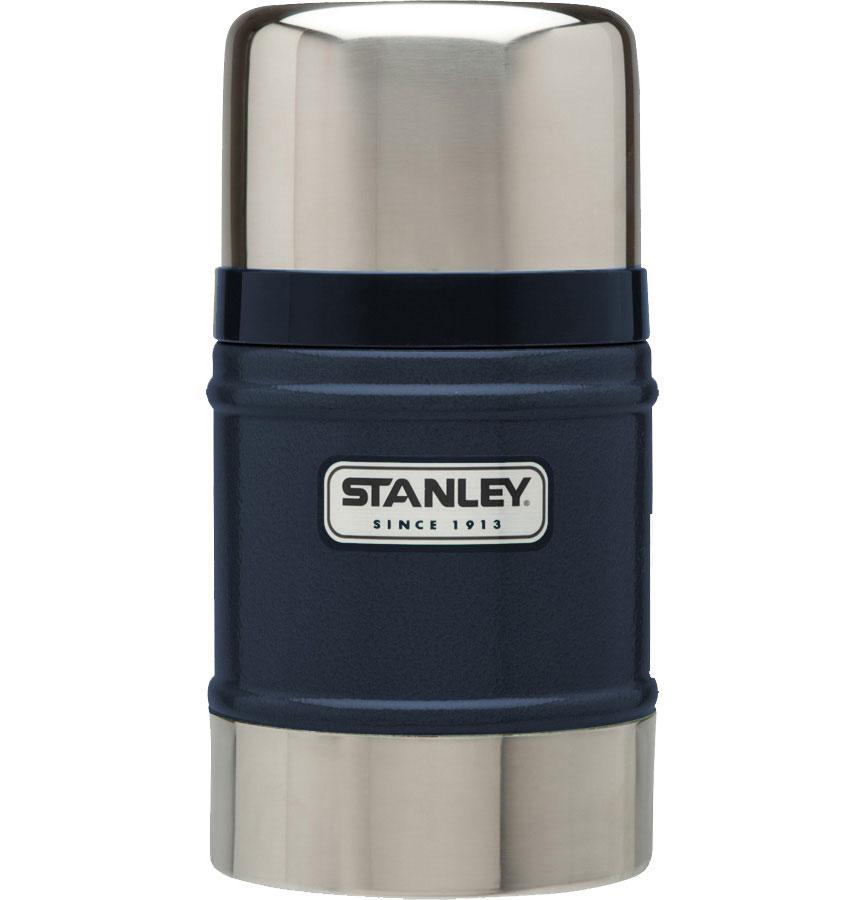 Термос Stanley Classic Vacuum Flask, с широким горлом, цвет: темно-синий, 0,5 л10-00811-013Термос Stanley Classic Vacuum Flask с широким горлышком выполнен из нержавеющей стали ипрекрасно подойдет для транспортировки продуктов питания, напитков или супов. Он удерживает тепло и холод на протяжении 12 часов и будет незаменим во время путешествий, поездок на пикник или на дачу. Особенности термоса Термос Stanley Classic Vacuum Flask:- наружное покрытие - абразивостойкая эмаль;- корпус и внутренняя колба выполнены из нержавеющей стали;- вакуумная изоляция;- герметичность;- крышка-термостакан объемом 354 мл.Гарантия: пожизненная.