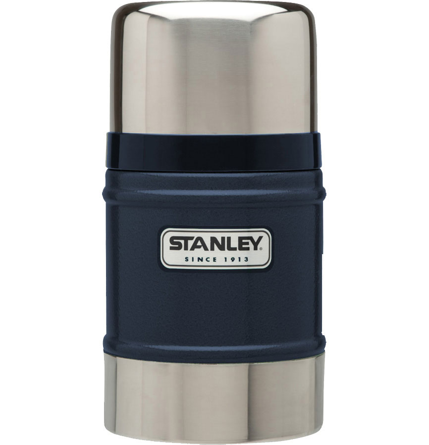 Термос Stanley Classic Vacuum Flask, с широким горлом, цвет: темно-синий, 0,5 л