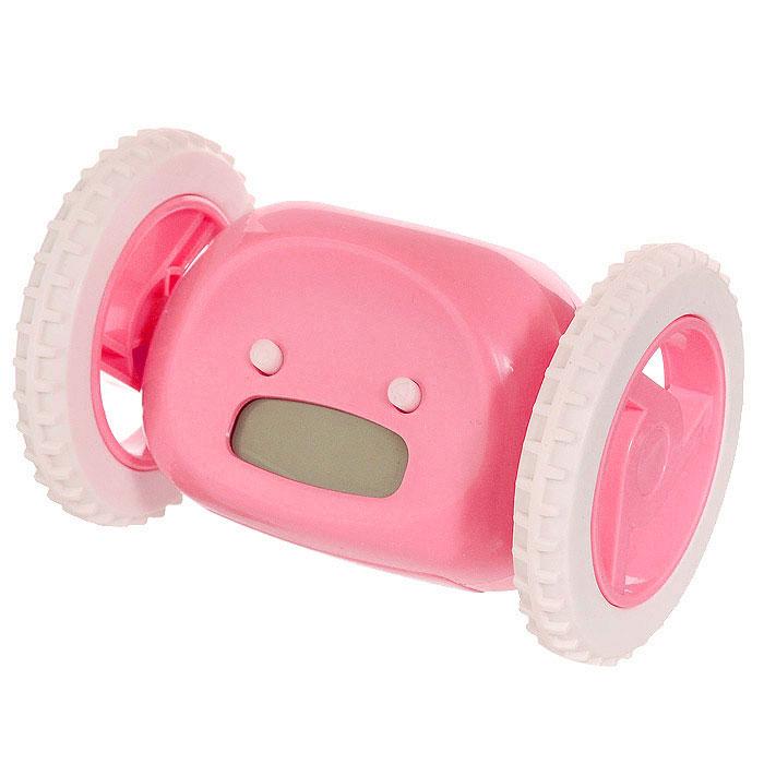 Часы-будильник Инопланетянин, цвет: розовый. 9348493484Часы Инопланетянин созданы для тех, кому сложно просыпаться по утрам. На корпусе часов расположены маленькие глазки-кнопки, они предназначены для программирования будильника. Установите будильник на необходимое время и оно отобразится на жидкокристаллическом экране-ротике. А утром маленький инопланетянин, крутя колесами, укатится со своего обычного места, вовсю сигналя о подъеме. Пока соня не поймает сбежавший будильник и не выключит кнопку, находящуюся на нем, инопланетный друг не успокоится, издавая громкие, но мелодичные звуки.С таким будильником опоздания в школу или на работу исключены! Характеристики:Материал: пластик. Размер будильника: 13,5 см х 9 см х 9 см. Размер упаковки: 16,5 см х 10,5 см х 11,5 см. Артикул: 93484. Необходимо докупить 4 батарейки ААА (не входят в комплект).