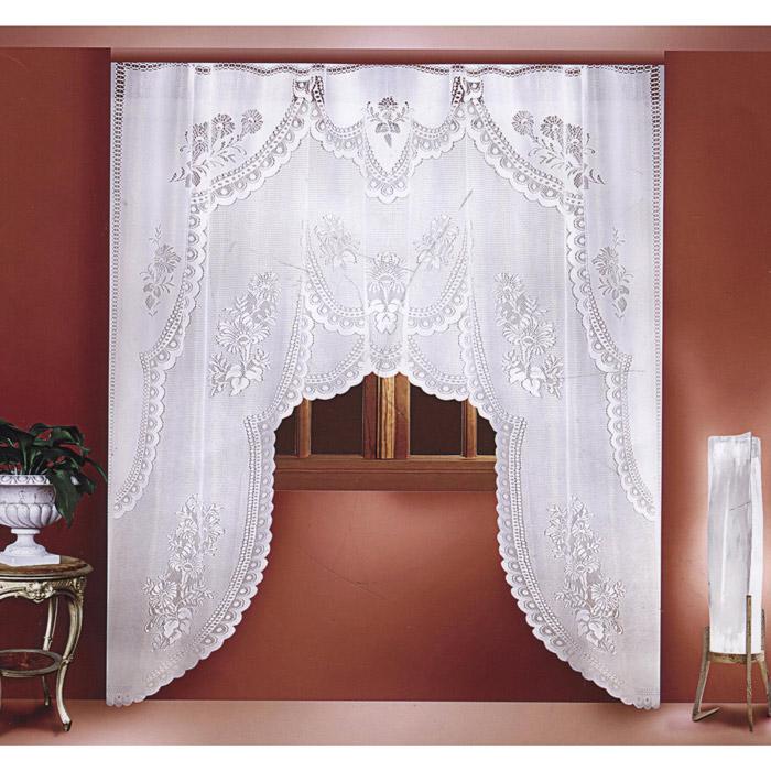Гардина Zlata Korunka, цвет: белый, высота 250 см. 88804434788Воздушная гардина Zlata Korunka, изготовленная из полиэстера белого цвета, станет великолепным украшением любого окна. Гардина выполнена в виде арки и декорирована цветочным узором. Тонкое плетение, оригинальный дизайн и приятная цветовая гамма привлекут к себе внимание и органично впишутся в интерьер. Верхняя часть гардины не оснащена креплениями. Характеристики: Материал: 100% полиэстер. Цвет: белый. Размер упаковки: 35 см х 29 см х 4 см. Артикул: 88804.В комплект входят: Гардина - 1 шт. Размер (Ш х В): 220 см х 250 см.