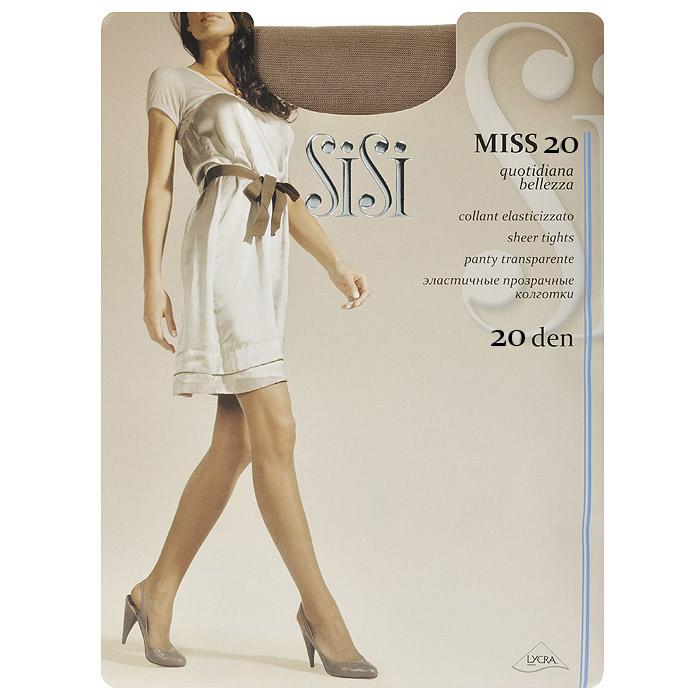 Колготки женские Sisi Miss 20, цвет: загар. SNL-005750. Размер 2Miss 20_DainoПрозрачные шелковистые колготки Sisi Miss 20 с уплотненными шортами, без ластовицы. Удобные швы.