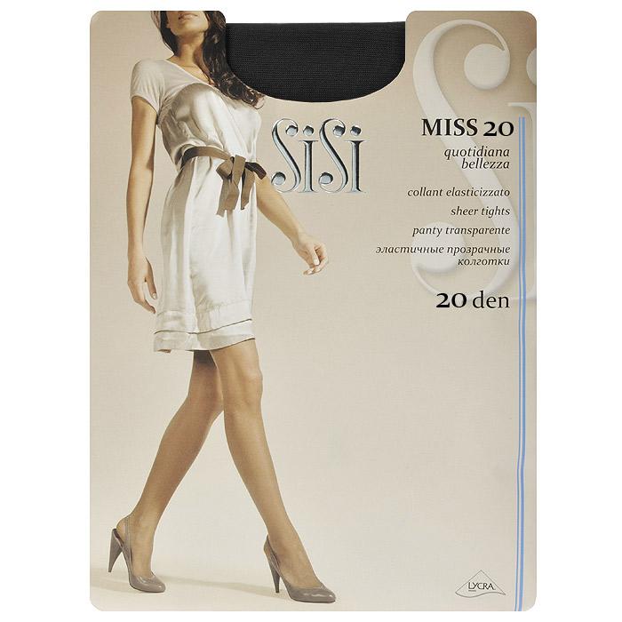 Колготки женские Sisi Miss 20, цвет: черный. SSP-001787. Размер 4Miss 20_NeroПрозрачные шелковистые колготки Sisi Miss 20 с уплотненными шортами, без ластовицы. Удобные швы.