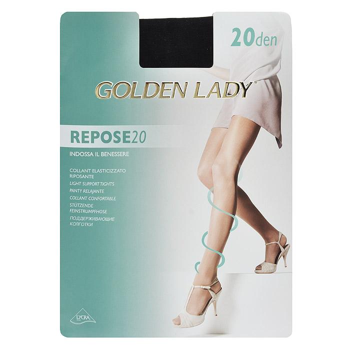 Колготки женские Golden Lady Repose 20, цвет: черный. SNL-000702. Размер 4 цены онлайн