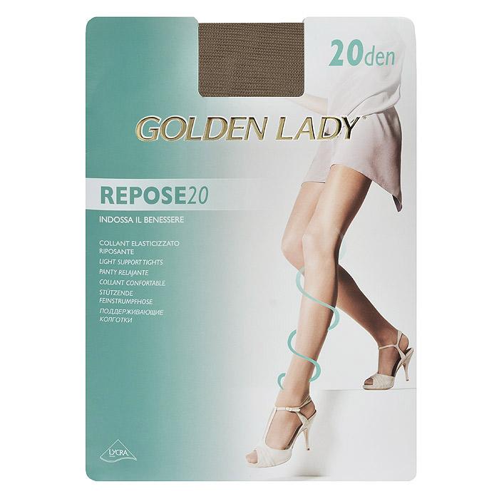 Колготки женские Golden Lady Repose 20, цвет: загар. SSP-001395. Размер 2Repose 20_DainoТонкие эластичные колготки Golden Lady Repose 20 с поддерживающим эффектом, удобными швами и гигиеничной ластовицей.