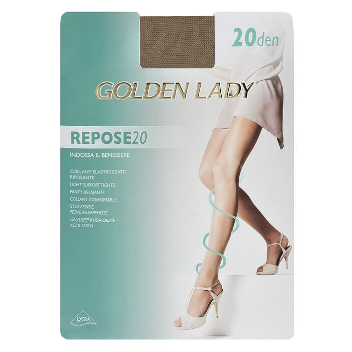 Колготки женские Golden Lady Repose 20, цвет: натуральный. SSP-001436. Размер 5 golden lina колготки оптом