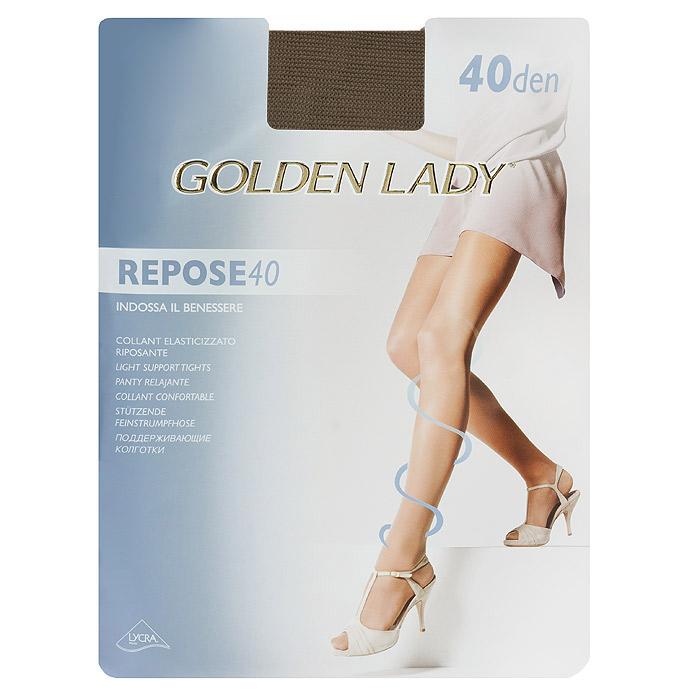 Колготки женские Golden Lady Repose 40, цвет: загар. SSP-001400. Размер 5 spine lady 357 40