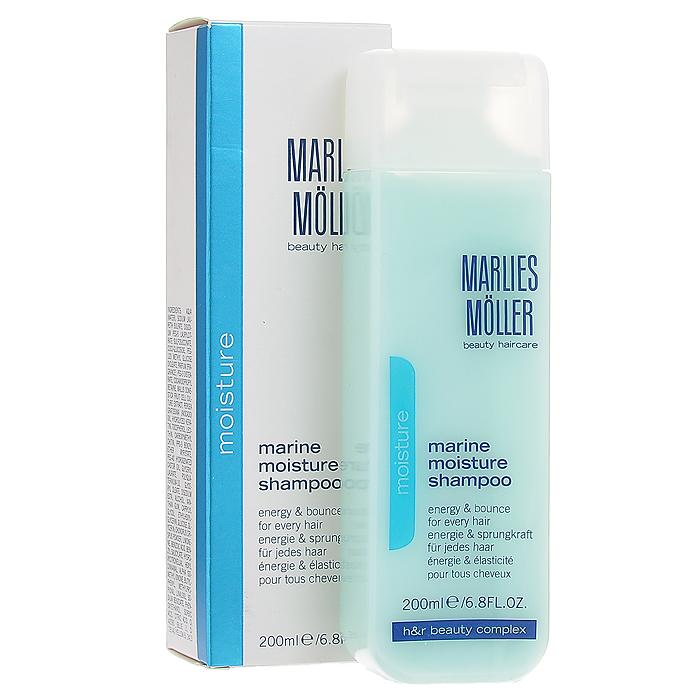 Marlies Moller Шампунь Moisture, увлажняющий, 200 мл21067MMsБережно очищает волосы и кожу головы. Обеспечивает волосам увлажнение без утяжеления и комфорт для кожи головы. Придает мгновенную эластичность и энергию. Укрепляет волосы от корней до кончиков для более здорового блеска и бесподобного сияния. Премиальный уход с профессиональным эффектом. Высокая концентрация активных компонентов. Мягкое средство без силиконов, позволяет частое применение.В зависимости от длины волос возьмите небольшое количество шампуня (размером с 1-2 лесных ореха) и вспеньте его в ладонях. Легкими круговыми массажными движениями нанесите шампунь, расположив одну руку спереди, другую - на затылке. Повторите массажные движения столько раз, сколько Вам нравится. Тщательно ополосните голову.