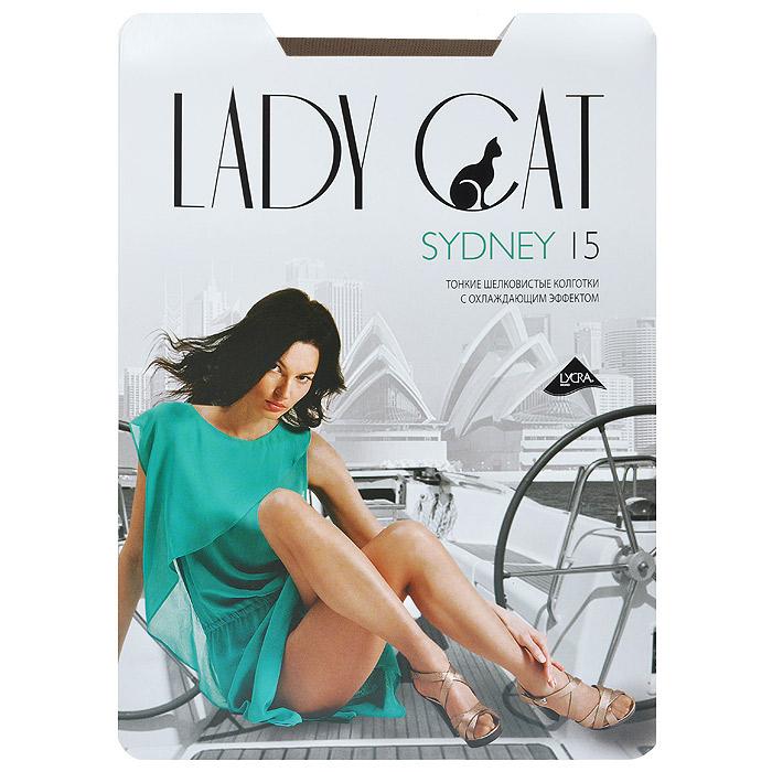 Колготки женские Lady Cat Sydney 15, цвет: загар. Размер 3Sydney 15Уникальные тонкие колготки Lady Cat Sydney 15, изготовленные из специальных нитей, с явно выраженным охлаждающим эффектом. Дарят ощущение прохлады в жаркое время. дополнительные плюсы - плоские швы, ластовица из хлопка.