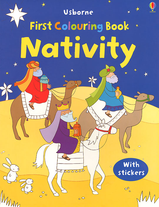 First Colouring Book Nativity santa first colouring book with stickers