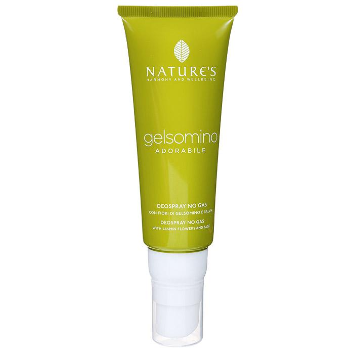 Natures Дезодорант Gelsomino, женский, 75 мл60340902Дезодорант для тела обеспечивает комфорт и свежесть надолго. Эффективно воздействует на патогенную флору, освежает и дарит ощущение благополучия. Отсутствие спирта, солей алюминия и других антиперспирантных агентов гарантирует идеальное состояние даже самой чувствительной кожи. Не оставляет пятен. Характеристики:Объем: 75 мл. Артикул: 60340902. Производитель: Италия. Товар сертифицирован.