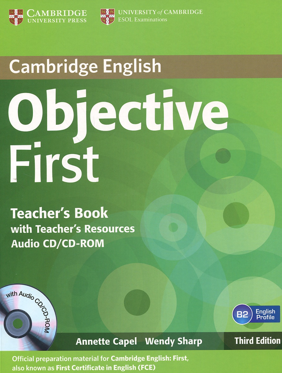 Objective First: B2: Teacher's Book with Teacher's Resources (+ CD-ROM) first english words cd