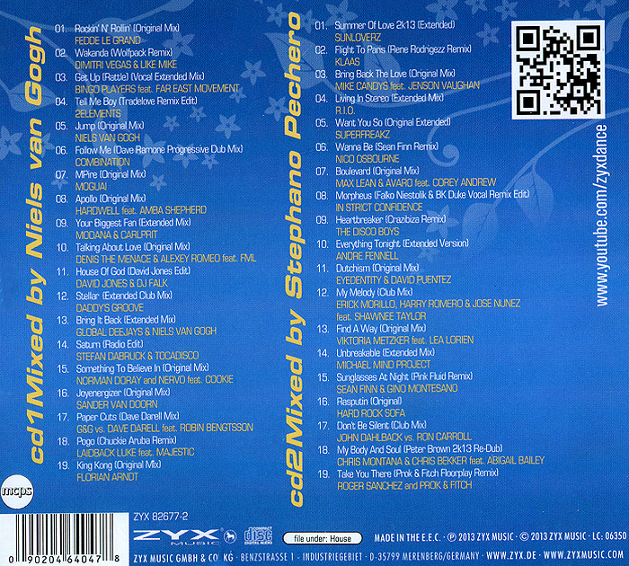 House 2013.  In The Mix (2 CD) ZYX Music,Концерн