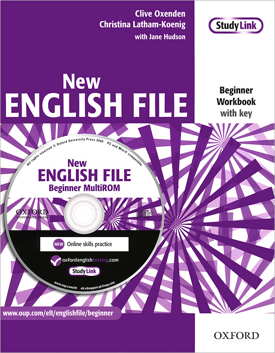 New English File: Beginner Workbook with Key (+ CD-ROM) latham koenig christina oxenden clive seligson paul new english file pre intermediate workbook with key and multirom pack