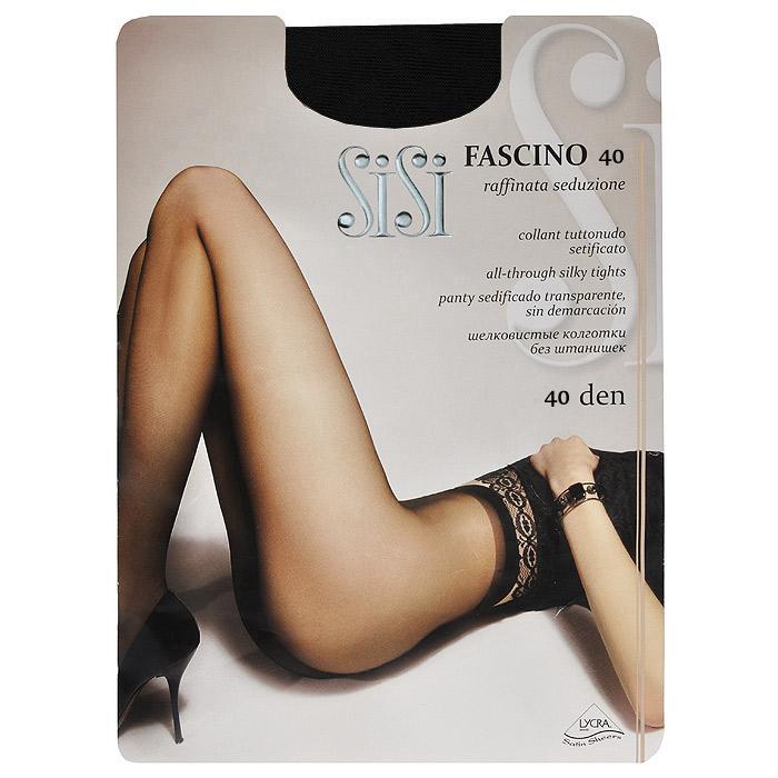 Колготки женские Sisi Fascino 40, цвет: черный. SSP-000982. Размер 3Fascino 40_NeroЭластичные прозрачные однородные колготки Sisi Fascino 40 с удобными швами, без штанишек, гигиеничной ластовицей и невидимым носком. Размер XL с задней вставкой.