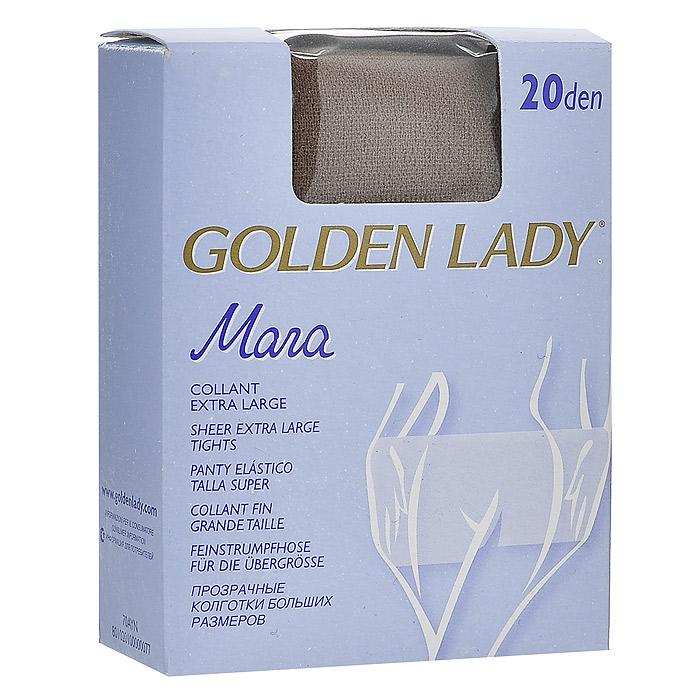 Колготки женские Golden Lady Mara 20, цвет: загар. SSP-001386. Размер XL gorgeous 60cm length golden thick braided wheat chain necklace for men