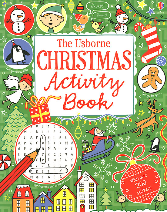 The Usborne Christmas Activity Book pocket doodling and colouring book blue book