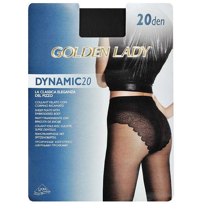Колготки женские Golden Lady Dinamic 20, цвет: черный. SSP-001371. Размер 3 колготки golden lady dinamic размер 2 плотность 20 den nero