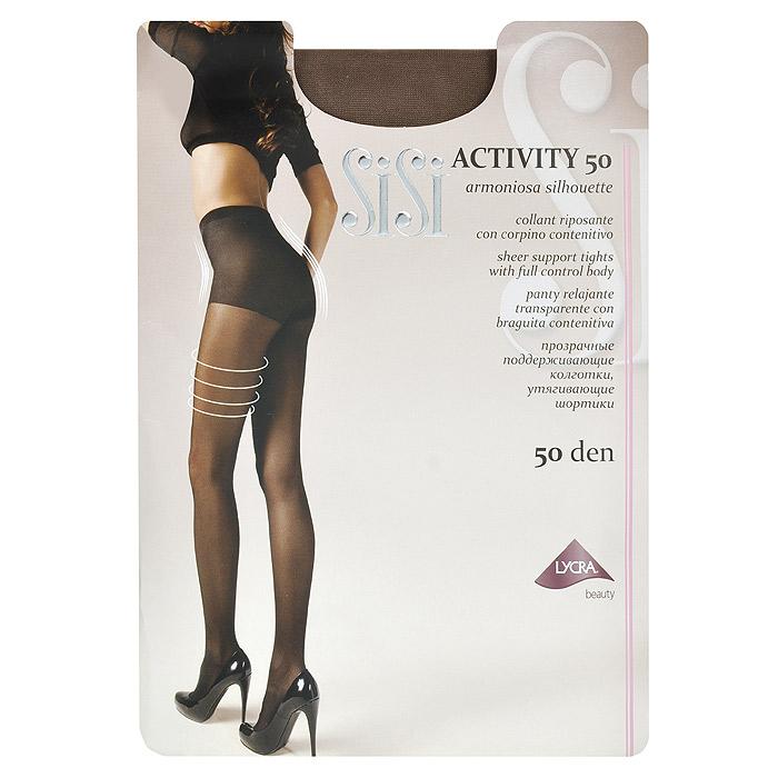 Колготки женские Sisi Activity 50, цвет: загар. Размер 5 Maxi колготки sisi activity размер 5 плотность 50 den daino