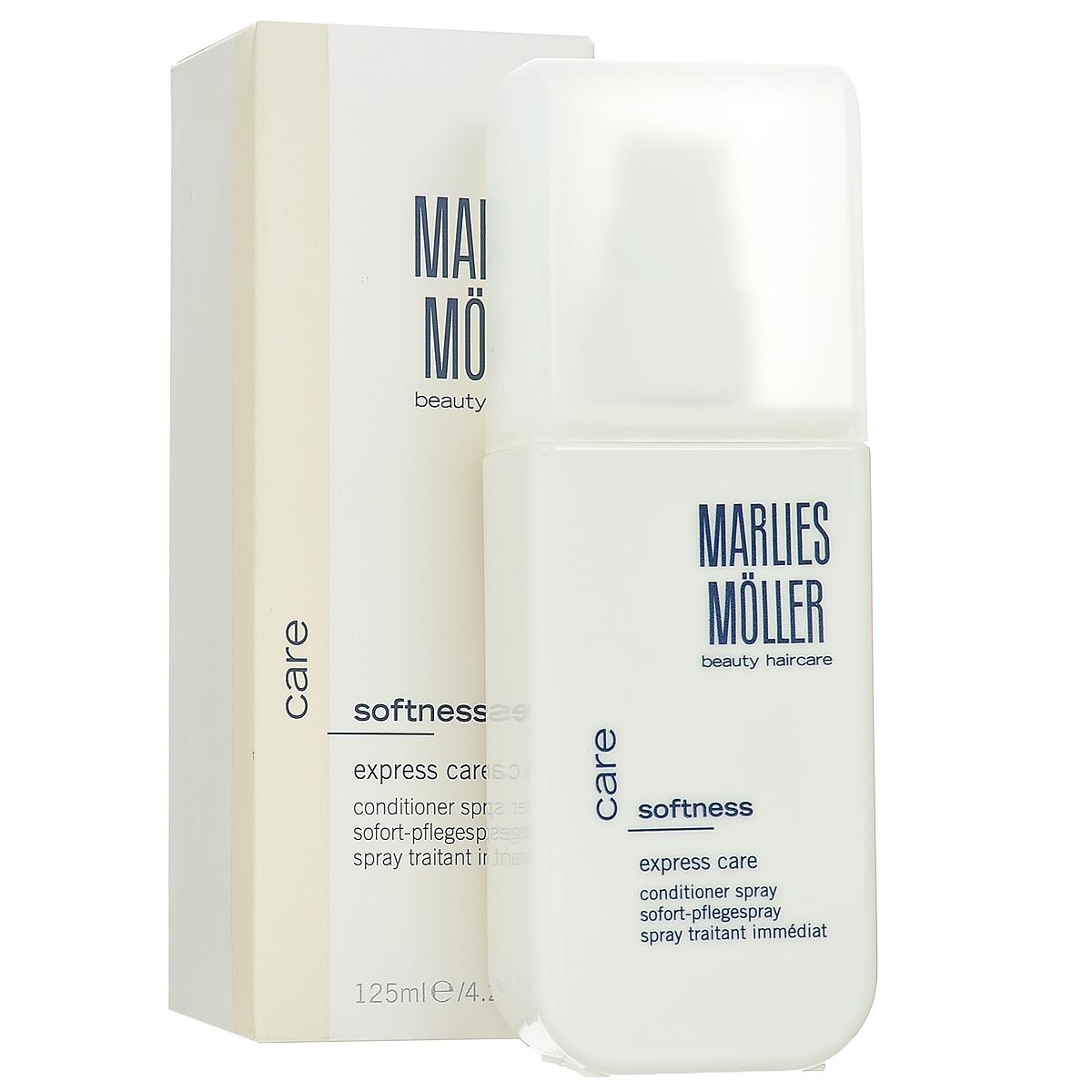 Marlies Moller Кондиционер-спрей для волос Softness, интенсивный, 125 мл03.09.01.2115Кондиционер-спрей - это несмываемый уход, альтернатива обычному смываемому кондиционеру. Несмываемое средство находится на волосах дольше, следовательно, работает эффективнее. Делает волосы гладкими и струящимися. Мгновенно увлажняет, восстанавливает эластичность и сияние волос. Облегчает расчесывание, оказывает антистатический эффект. Подчеркивает локоны вьющихся волос. Премиальный уход с профессиональным эффектом. Высокая концентрация активных компонентов. Мягкое средство без силиконов, позволяет частое применение.Наносите спрей на сухие или подсушенные полотенцем волосы по мере необходимости. Не смывайте.