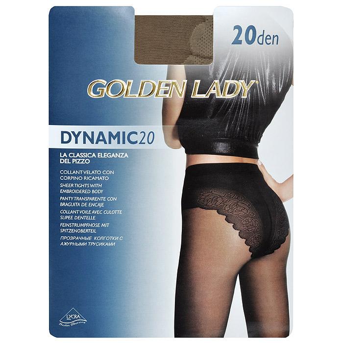 Колготки женские Golden Lady Dinamic 20, цвет: загар. SSP-001368. Размер 3Dinamic 20_DainoТонкие прозрачные колготки Golden Lady Dinamic 20 с ажурными трусиками и удобными швами. Невидимый носок.