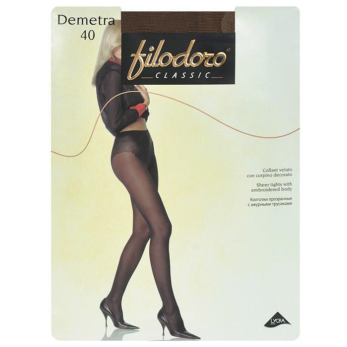 Колготки женские Filodoro Demetra 40, цвет: темный загар. SNL-092427. Размер 3 колготки filodoro ninfa размер 2 плотность 40 den vita bassa playa