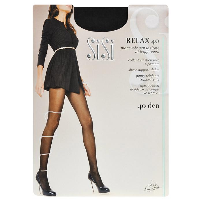 Колготки женские Sisi Relax 40, цвет: черный. SSP-001. Размер 5Relax 40_NeroПрозрачные тонкие поддерживающие колготки Sisi Relax 40 с лайкрой, формованные, с усиленным носком и ластовицей, с распределенным по ноге давлением.