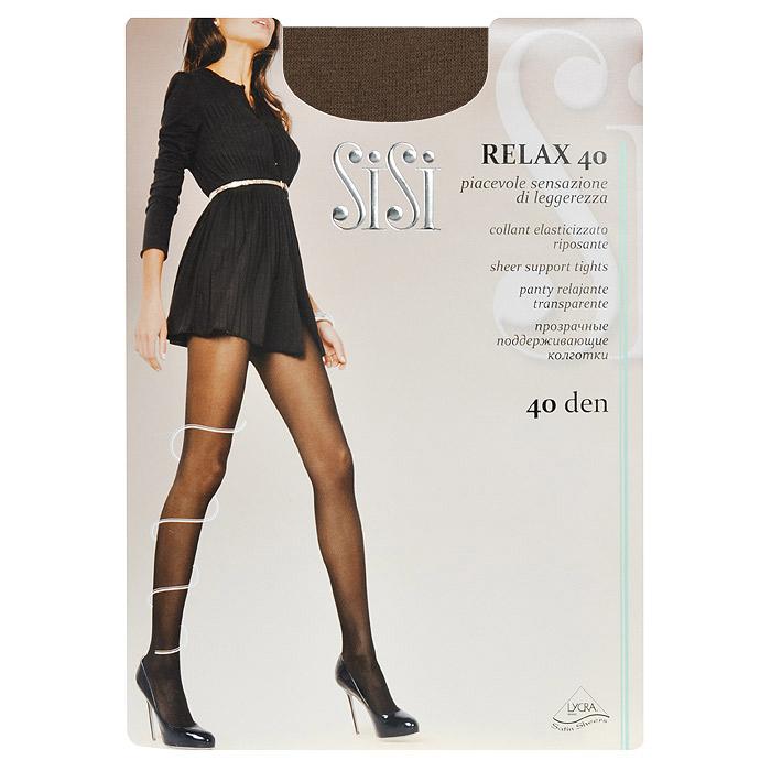Колготки женские Sisi Relax 40, цвет: загар. SSP-000079. Размер 2Relax 40_DainoПрозрачные тонкие поддерживающие колготки Sisi Relax 40 с лайкрой, формованные, с усиленным носком и ластовицей, с распределенным по ноге давлением.