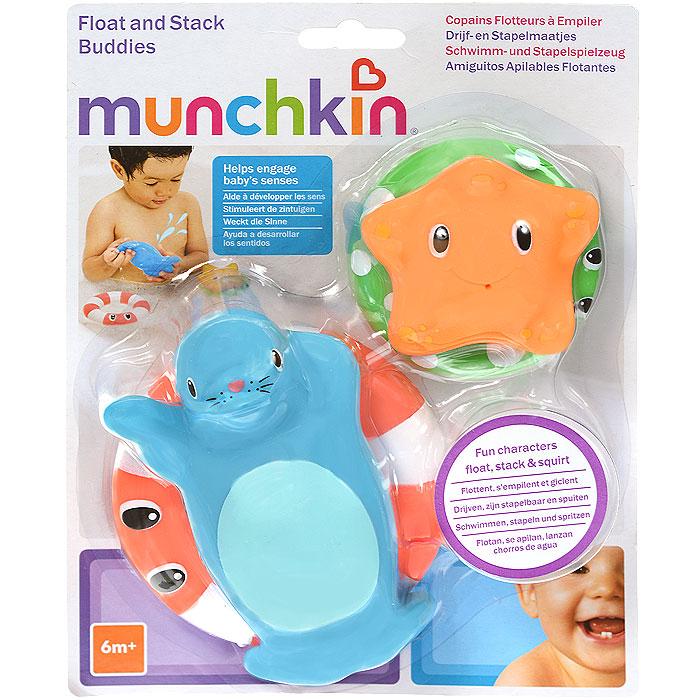 Игровой набор для ванны Munchkin Веселые приятели игрушки для ванны tolo toys набор ведерок квадратные