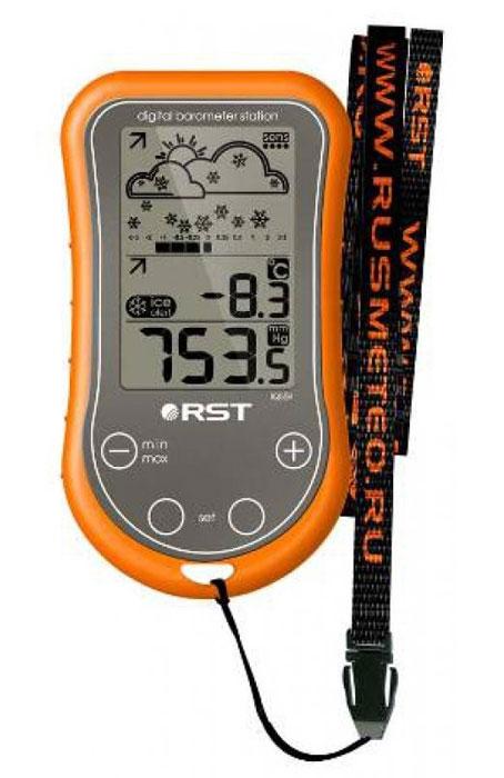RST 02559 цифровая погодная станция2559Цифровая портативная метеостанция RST 02559 IQ559 подойдет для любителей путешествия, рыбалки и просто для удобства передвижения в городе и вне населенного пункта. Портативная переносная метеостанция легко помещается на ладони, ее можно положить в карман, можно носить на шее или руке, для этого в комплекте предусмотрен удобный ремешок. Компактная погодная станция составляет прогноз погоды на ближайшие часы, показывает температуру в градусах Цельсия и Фаренгейта по желанию.Портативная метеостанция показывает атмосферное давление в числах (мм.рт.ст.) и в графике изменения атмосферного давления в определенный промежуток времени. Стрелочные индикаторы указывают на рост или падение температуры и давления. Корпус переносной метеостанции сделан из влагоустойчивого материала с сенсорными кнопками управления. Система экономии питания SES продлевает ресурс батарейки на длительный срок пока метеостанция находится у вас в кармане. Такой погодной станции будет не по чем ни дождь, ни низкие температуры, ни экстремальные погодные условия.