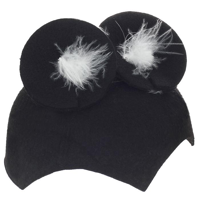 """Детская маскарадная шляпа """"Кошка"""", цвет: черный. Размер 53"""