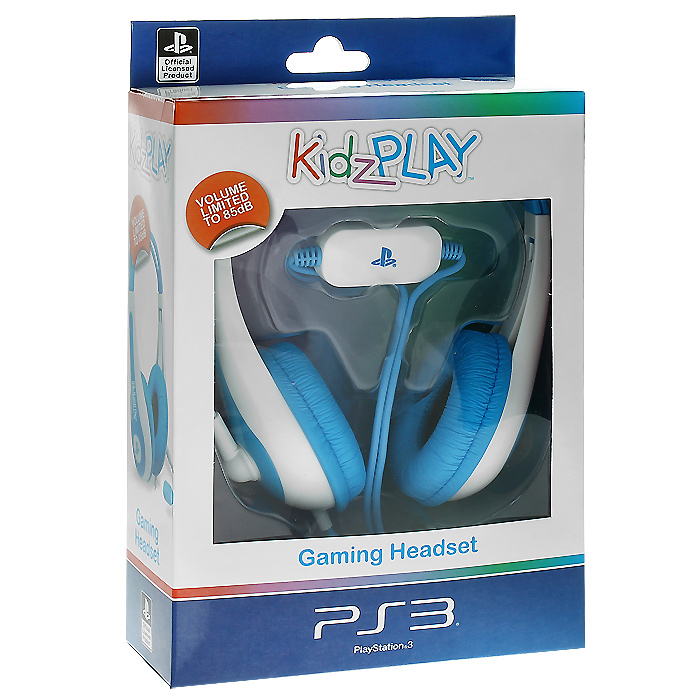 Детская игровая стерео гарнитура Kidz Play для PS3 (голубая)CHPHMT7Яркая и красочная гарнитура для юных пользователей PS3.