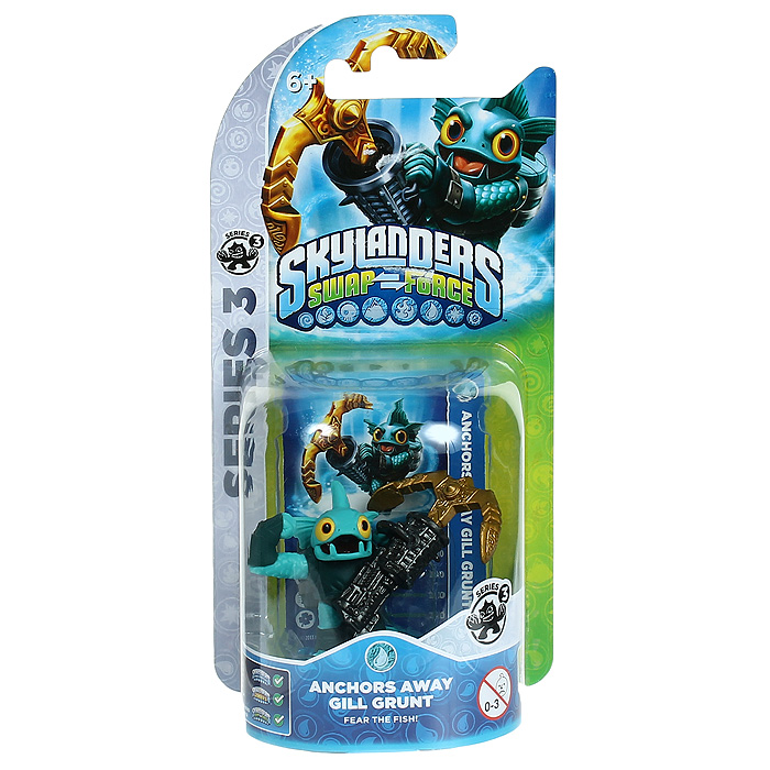 Skylanders Swap Force. Интерактивная фигурка Anchors Away Gill Grunt la 5754p 11s69038329 main board for lenovo g565 z565 laptop motherboard ddr3 socket s1 with free cpu