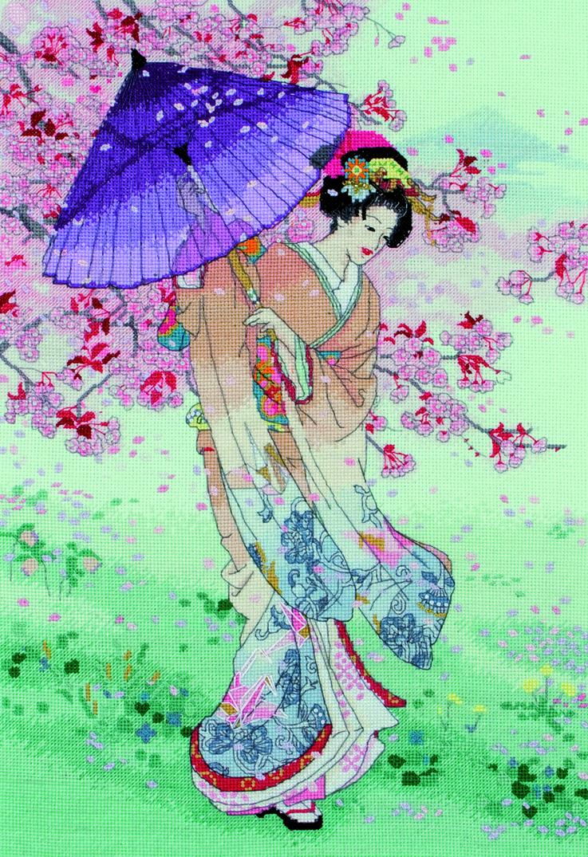 """Набор для вышивания крестом """"Грезы сакуры"""", 40 х 27 см, Maia"""