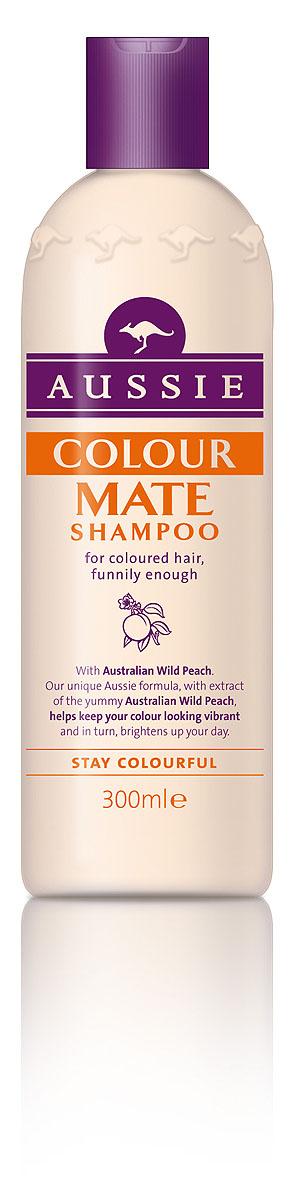 Aussie Шампунь Colour Mate, для окрашенных волос, 300 мл81446427Окрашенные волосы яркие, как и ты сама!Говорят, ничто не может длиться вечно, но мы считаем, что окрашенные волосы должны как можно дольше не терять яркости и лучезарного блеска.Aussie Colour Mate помогает защитить волосы от повреждений при окрашивании, сохраняет их живыми и соблазнительно яркими. Для этого в нем содержится целый ряд ценных ингредиентов, в том числе и экстракт Австралийского дикого персика, защитные свойства которого были известны еще австралийским аборигенам. А уж они-то кое-что понимали в том, как защитить свои волосы, даже если до ближайшей тени десятки километров. - Шампунь Aussie Colour Mate с экстрактом австралийского дикого персика защищает волосы и сохраняет их цвет насыщенным, соблазнительно ярким.Способ применения: Нанесите на мокрые волосы, вспеньте, глубоко вдохните и насладитесь восхитительным ароматом. Промойте водой. И кстати.. для наилучшего результата, конечно же используйте так же бальзам-ополаскиватель Aussie Colour Mate. Состав: Aqua, Sodium Laureth Sulfate, Sodium Lauryl Sulfate, Cocamidopropyl Betaine, Cocamide Mea, Glycol Distearate, Sodium Chloride, Parfum, Dmdm Hydantoin, Methylparaben, Guar Hydroxypropyltrimonium Chloride, Tetrasodium Edta, Citric Acid, Limonene, Linalool, Propylene Glycol, Eucalyptus Globulus, Persea Gratissma, Santalum Acuminatum, Benzoic Acid, Polysorbate 20, Phenoxyethanol, Ethylparaben, Butylparaben, Propylparaben, Paraffinum Liquidum. Товар сертифицирован.