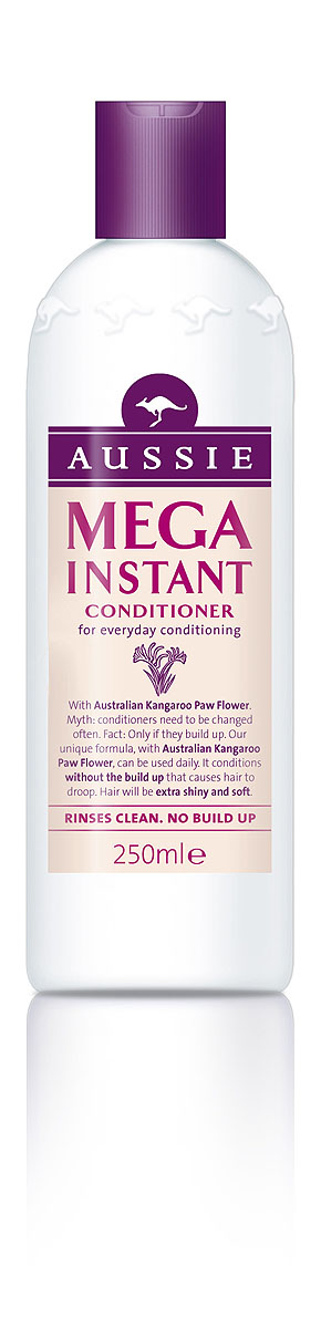 Aussie Бальзам-кондиционер Mega Instant, для ежедневного использования, 250 мл aussie бальзам ополаскиватель mega instant для ежедневного использования 250 мл
