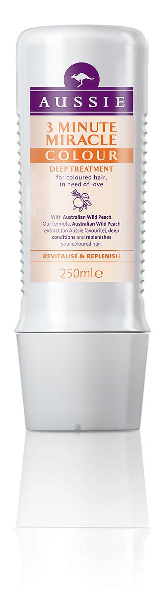 Aussie Средство интенсивного ухода 3 Minute Miracle Colour, для окрашенных волос, 250 мл81446446Окрашенные волосы яркие, как и ты сама!Говорят, ничто не может длиться вечно, но мы считаем, что окрашенные волосы должны как можно дольше не терять яркости и лучезарного блеcка. Aussie Colour Mate помогает защитить волосы от повреждений при окрашивании, сохраняет их живыми и соблазнительно яркими. Для этого в нем содержится целый ряд ценных ингредиентов, в том числе и экстракт Австралийского дикого персика, защитные свойства которого были известны еще австралийским аборигенам. А уж они-то кое-что понимали в том, как защитить свои волосы, даже если до ближайшей тени десятки километров. - Средство интенсивного ухода Aussie 3 Minute Miracle Colour c экстрактом дикого австралийского персика для окрашенных волос, которым нужна любовь и забота.Уникальной формуле понадобится всего 3 минуты, чтобы помочь преобразить сухие тусклые волосы и придать им энергии и шика. Способ применения: Лучше всего использовать в ванне вместе с хорошей музыкой и свечами, после того как смыли шампунь Aussie Colour Mate. Нанесите на чистые влажные волосы на 1-3 минуты, затем смойте теплой водой. Попробуйте также бальзам-ополаскиватель Aussie Colour Mate. Состав: Aqua, Stearyl Alcohol, Cyclopentasiloxane, Cetyl Alcohol, Stearamidopropyl Dimethylamine, Dimethicone, Glutamic Acid, Benzyl Alcohol, Parfum, Edta Persea Gratissima Oil, Limonene, Linalool, Magnesium Nitrate, Butylene Glycol, Propylene Glycol, Santalum Acuminatum Fruit Extract, Alcohol Denat, Methylchloroisothiazolinone, Magnesium Chloride, Eucalyptus Globulus Leaf Extract, Methylisothiazolinone, Phenoxyethanol, Methylparaben, Ethylparaben, Butylparaben, Propylparaben, Isobutylparaben. Товар сертифицирован.