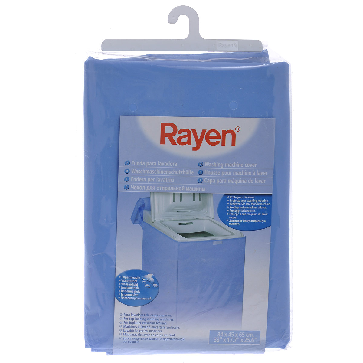 Чехол Rayen для вертикальной стиральной машины, 84 х 45 х 65 см37003216Чехол Rayen, выполненный из синтетической влагонепроницаемой ткани, защитит вашу стиральную машину от царапин, ударов, грязи и т.д. Чехол сшит так, что он не будет закрывать панель управления. Характеристики: Материал: синтетическая ткань. Размер чехла: 84 см х 45 см х 65 см. Размер упаковки: 32 см х 22 см х 2 см. Производитель: Испания. Артикул: 37003216.