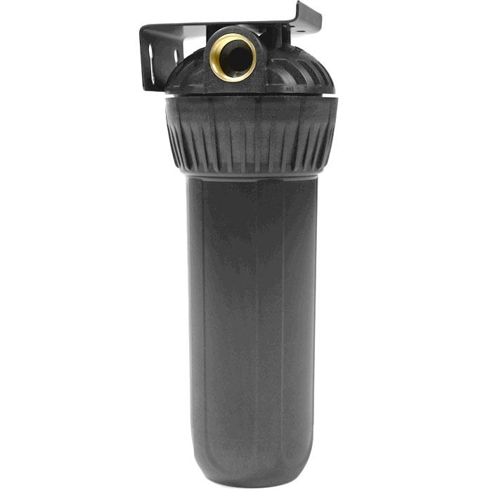 Корпус фильтра Гейзер 10 х 3/4 для горячей воды, цвет: черный50547Корпус Гейзер 10SL 3/4 для горячей воды. Изготовлен из термостойкого полиамида с металлическими ниппелями. Корпус рассчитан на работу под давлением и установку на входе в систему горячего или холодного водоснабжения. В производстве корпусов используются материалы пищевого класса.Особенности корпуса: Корпус испытан давлением 30 Атм Температура воды до +95°С Надежные резьбовые вставки из латуни Простое подключение и монтаж Легкая замена картриджа