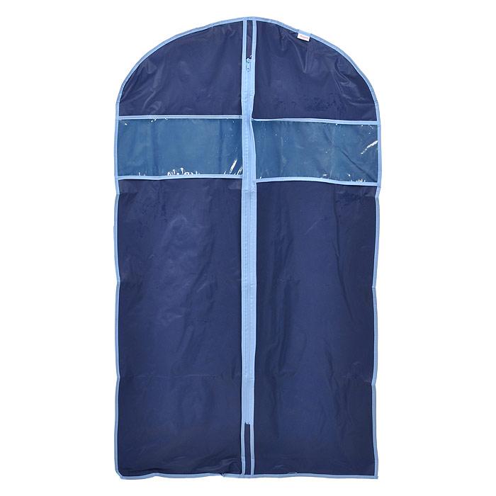 Чехол для одежды Rayen, цвет: синий, 60 x 100 см37000334Чехол для одежды Rayen применяется для хранения и переноски одежды, для защиты от различных загрязнений, повреждений, пыли, влаги.Чехол с застежкой-молнией и обзорным окошком удобен и легок в применении. Характеристики: Материал: пластик, полиэтилен. Размер чехла: 60 см х 100 см. Размер упаковки: 21 см х 14,5 см х 4 см. Производитель: Испания. Артикул: 37000334.