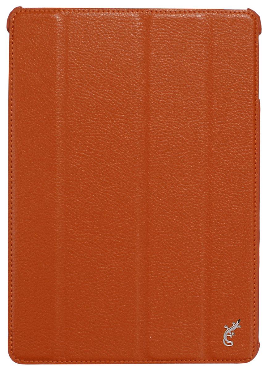 G-case Elegant чехол для iPad Air, OrangeGG-234G-Case Elegant - это качественный, функциональный и стильный кожаный чехол для iPad Air, который станетотличным решением для защиты Вашего планшетного компьютера от пыли, ударов и царапин. При этом он не затрудняет доступ к iPad и обеспечивает высокий высокий уровень удобства при его использовании. Сам чехол изготовлен из высококачественной кожи как снаружи, так и внутри чехла, благодаря чему iPad Air останется в первозданном виде.В открытом виде Вам будут доступны все функциональные клавиши и разъемы iPad Air. В закрытом виде чехол G-Case Elegant не помешает заряжать iPad Air, фотографировать или слушать музыку. В G-Case Elegant устройство не становится толще или тяжелее, поэтому легко поместится в сумку. Такой чехол надежно защитит Ваш iPad Air во время эксплуатации и транспортировки. Впрочем, все эти качества наверняка оценят те, кто предпочитают комфортные и качественные вещи.