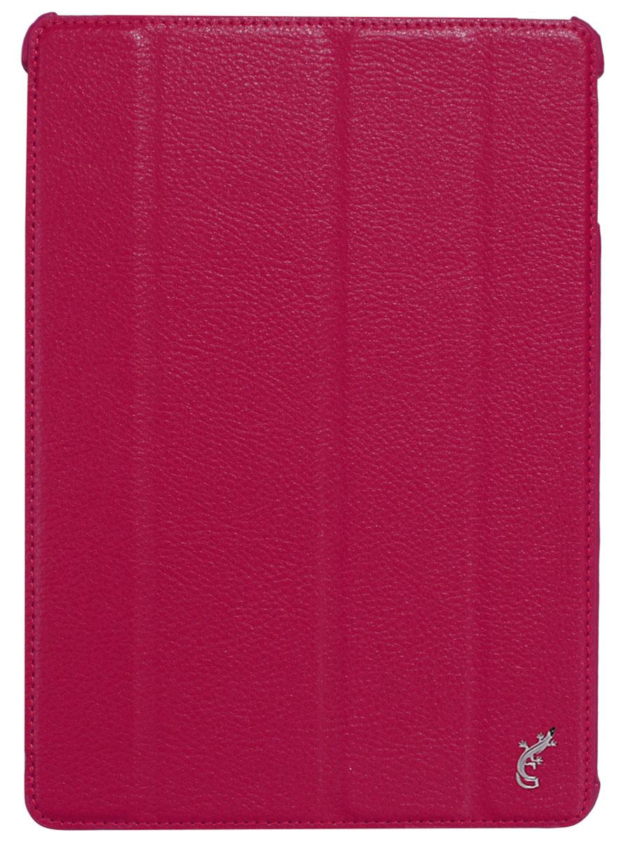 G-case Elegant чехол для iPad Air, PinkGG-231G-Case Elegant - это качественный, функциональный и стильный кожаный чехол для iPad Air, который станетотличным решением для защиты Вашего планшетного компьютера от пыли, ударов и царапин. При этом он не затрудняет доступ к iPad и обеспечивает высокий высокий уровень удобства при его использовании. Сам чехол изготовлен из высококачественной кожи как снаружи, так и внутри чехла, благодаря чему iPad Air останется в первозданном виде.В открытом виде Вам будут доступны все функциональные клавиши и разъемы iPad Air. В закрытом виде чехол G-Case Elegant не помешает заряжать iPad Air, фотографировать или слушать музыку. В G-Case Elegant устройство не становится толще или тяжелее, поэтому легко поместится в сумку. Такой чехол надежно защитит Ваш iPad Air во время эксплуатации и транспортировки. Впрочем, все эти качества наверняка оценят те, кто предпочитают комфортные и качественные вещи.