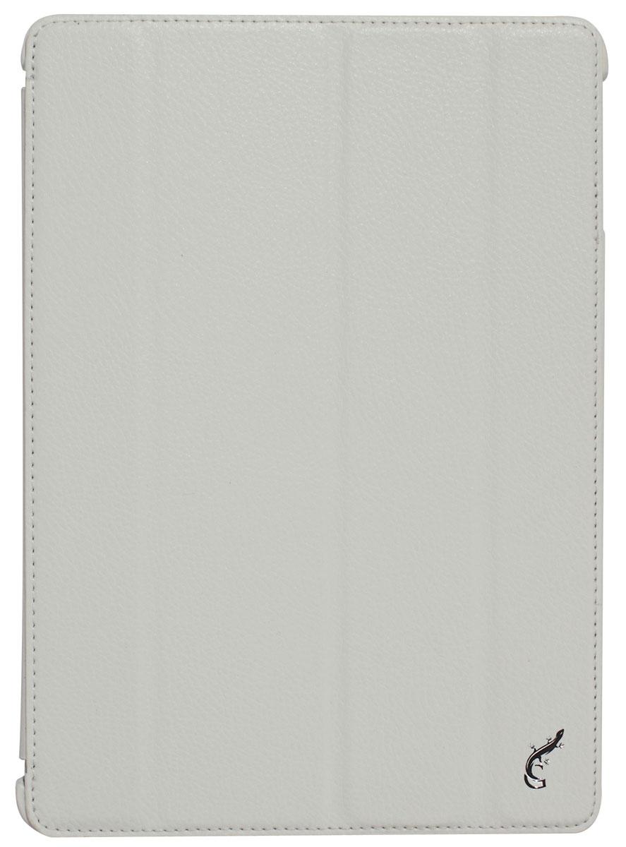 G-case Elegant чехол для iPad Air, WhiteGG-230G-Case Elegant - это качественный, функциональный и стильный кожаный чехол для iPad Air, который станетотличным решением для защиты Вашего планшетного компьютера от пыли, ударов и царапин. При этом он не затрудняет доступ к iPad и обеспечивает высокий высокий уровень удобства при его использовании. Сам чехол изготовлен из высококачественной кожи как снаружи, так и внутри чехла, благодаря чему iPad Air останется в первозданном виде.В открытом виде Вам будут доступны все функциональные клавиши и разъемы iPad Air. В закрытом виде чехол G-Case Elegant не помешает заряжать iPad Air, фотографировать или слушать музыку. В G-Case Elegant устройство не становится толще или тяжелее, поэтому легко поместится в сумку. Такой чехол надежно защитит Ваш iPad Air во время эксплуатации и транспортировки. Впрочем, все эти качества наверняка оценят те, кто предпочитают комфортные и качественные вещи.