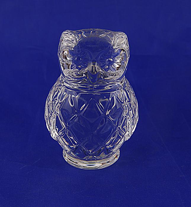Статуэтка Сова из серии The Curio Cabinet Owls Collection. Хрусталь, гранение. The Franklin Mint, США, конец XX века фаберже ваза гранд эмеральд хрусталь гранение гравировка фаберже франция конец xx века